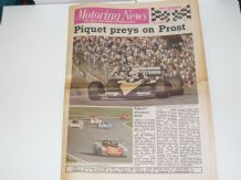 MOTORING NEWS 1983 Sept 28 European GP Brands, BTCC, Thundersports, Cyrus Rally